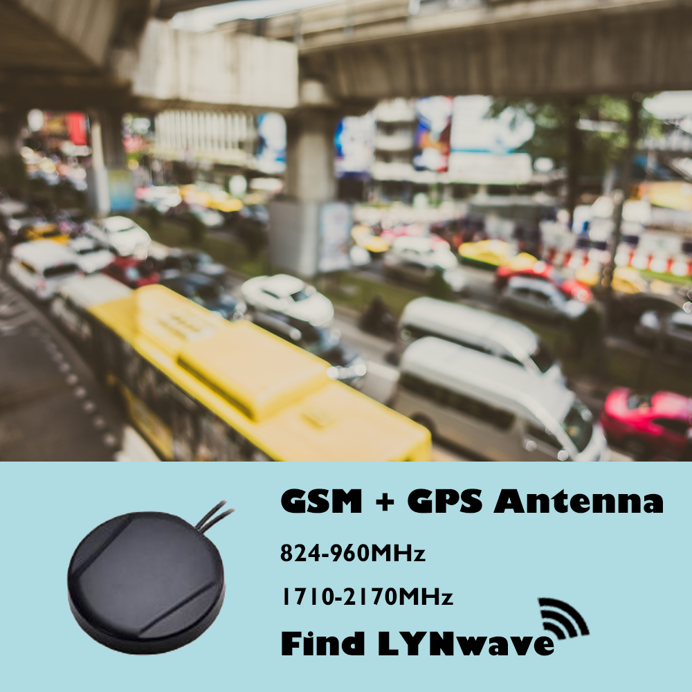 D80*40mm Magnetic GPS GSM telematics solution vehicle gps tracking antenna