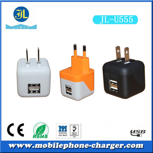 charger maker folding mini 2.1A US EU dual usb wall charger for android devices