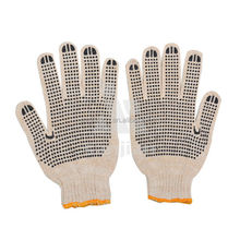 hot selling 7gauge white cotton grip gloves SJIE12022-3