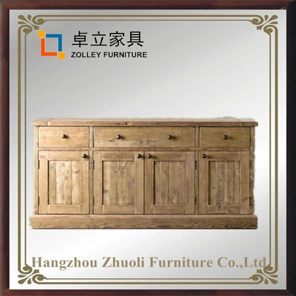 home furniture 4 door wooden cabinet low price high quality