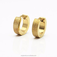 2015 Wholesale Gold plated party jewelry high polish earrings stainless steel earrings for women