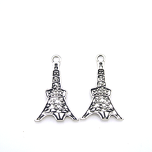 zinc alloy tibetan silver eiffel tower pendants charms for bracelet Jewelry making