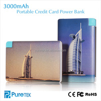 Factory Direct Price Gift Wholesale Products Ultrathin Aluminum Alloy Credit Card Lithium Polymer Power Bank 3000mAh for iPh