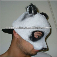 New Style Panda Mask Latex Adult One Size fits all Costume mask - NEW STYLE