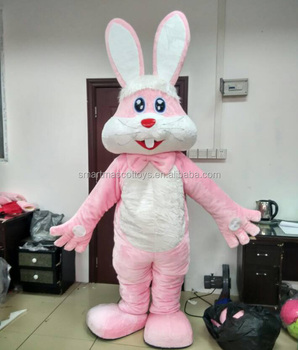 pink rabbit costume adult easter bunny mascot costume