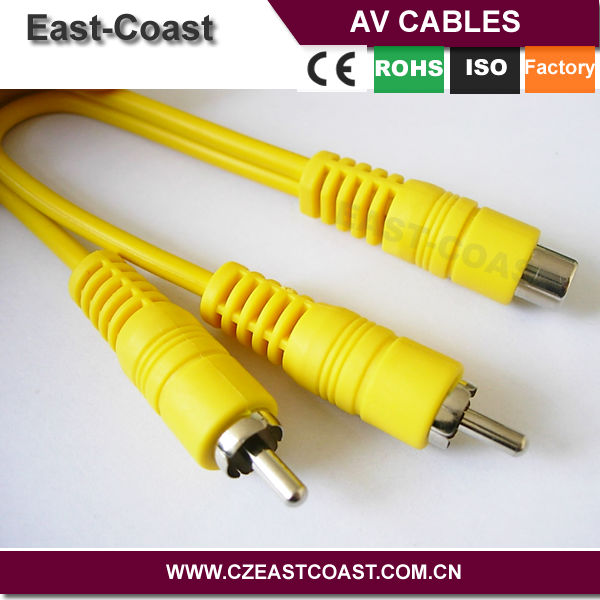 audio video rca 2 male to female y splitter cable