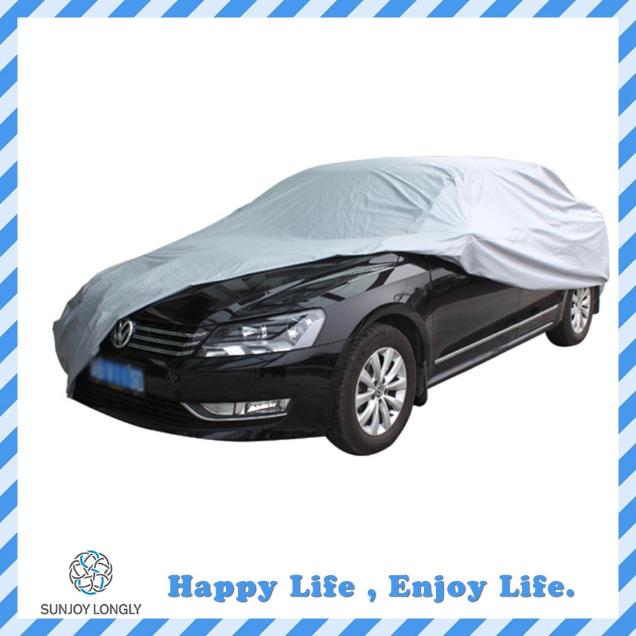 170T Silver Polyester UV Protection Car Cover