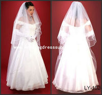 LY-1524 Hot Sale Long 2 Layers Lady Off White Wedding Veils