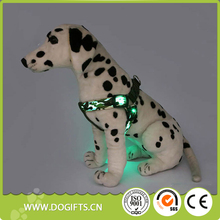 2017 Best Sellers Camouflage Led dog leash and harness high-end metal chain led light dog harness soft