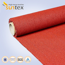 red 1.7mm 53oz silicone coated welding protection flame textil