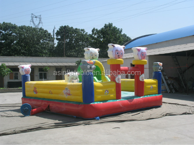 Inflatable sheep bouncer inflatable bouncy castle bouncer slide for sale air bouncer