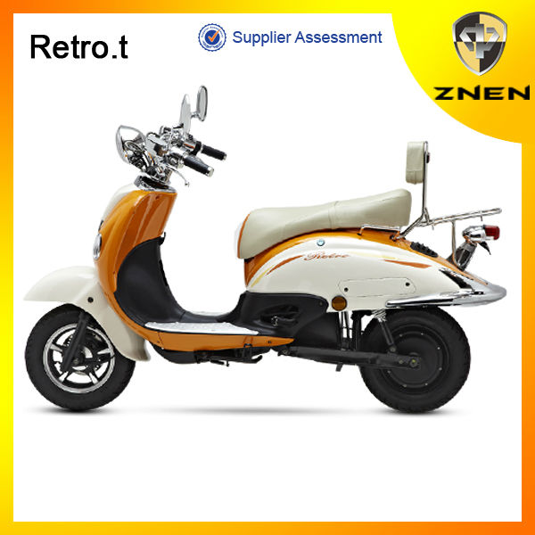 3000w 60V28AH EEC hot retro style electric scooter with Removable Lithium battery supplier scooter velocity