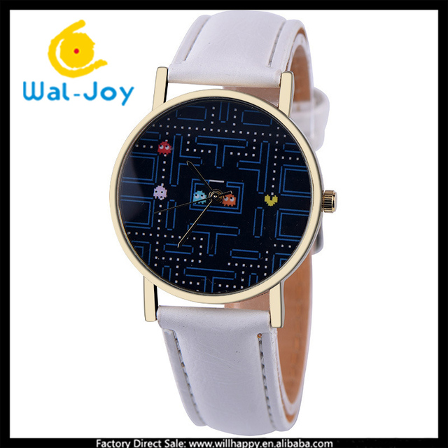 WJ-5391 vintage sudoku game face trendy personality fancy student charming watch