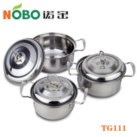 6 pcs Kitchen Usage Stainless Steel Induction Design Cookware Utensil Set with Lid