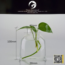handmade designs clear glass vase for wedding decoration