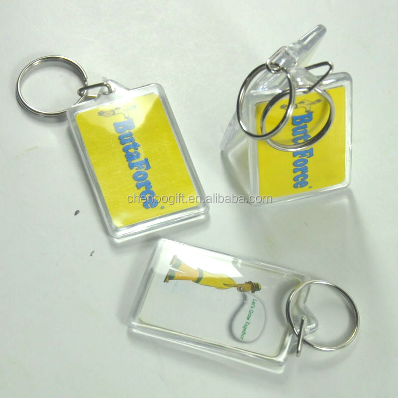 Customized Acrylic key ring, printed photo clear acrylic key tag