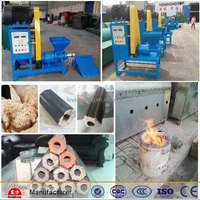 Multifunction charcoal briquette machine for wood