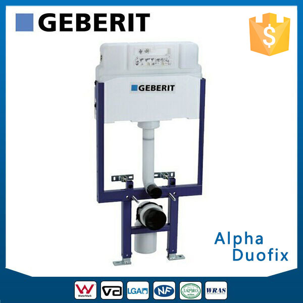 GEBERIT Alpha Duofix In-wall Cistern Watermark Concealed Cistern for Wall-hung Toilet, Dual Flush Front Button,