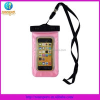 pvc waterproof phone bag for swimming for iphone waterproof case for sumsung