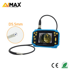 Rechargeable Battery Crashproof Cover 5.5mm Diameter Camera Flexible Tube Industrial Endoscope Portable Video Borescope