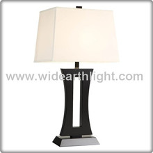 UL CUL Listed Good Quality Black And Nickel Color Square Bed Lamp Hotel Guestroom Table Lamp T40135
