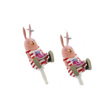 Custom Cute PVC Russian Cartoon Prison Rabbit Dust Plug