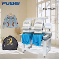 Fuwei double heads Domestic embroidery machine with15 needles for cap and shirts