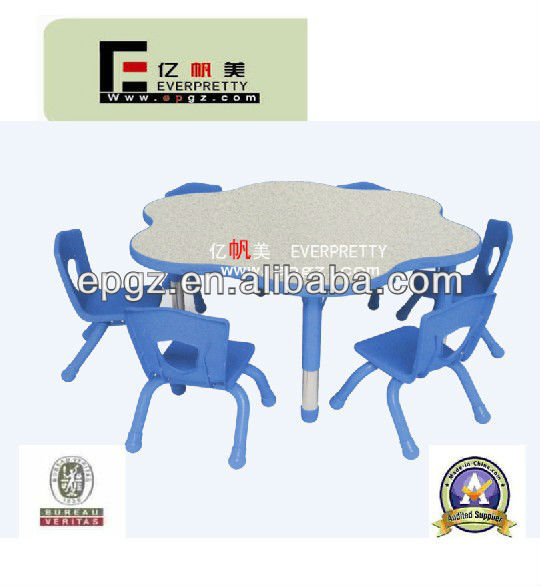 Sell Used School Furniture/Flower Shape Kindergarten Table and Chair Furniture/Adjustable Height Desk and Chair for Kid's