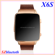 "Stylish GSM Quad band MP3 MP4 TF slot 1.54"" IPS touch screen smart wrist mobile watch phone X6S"