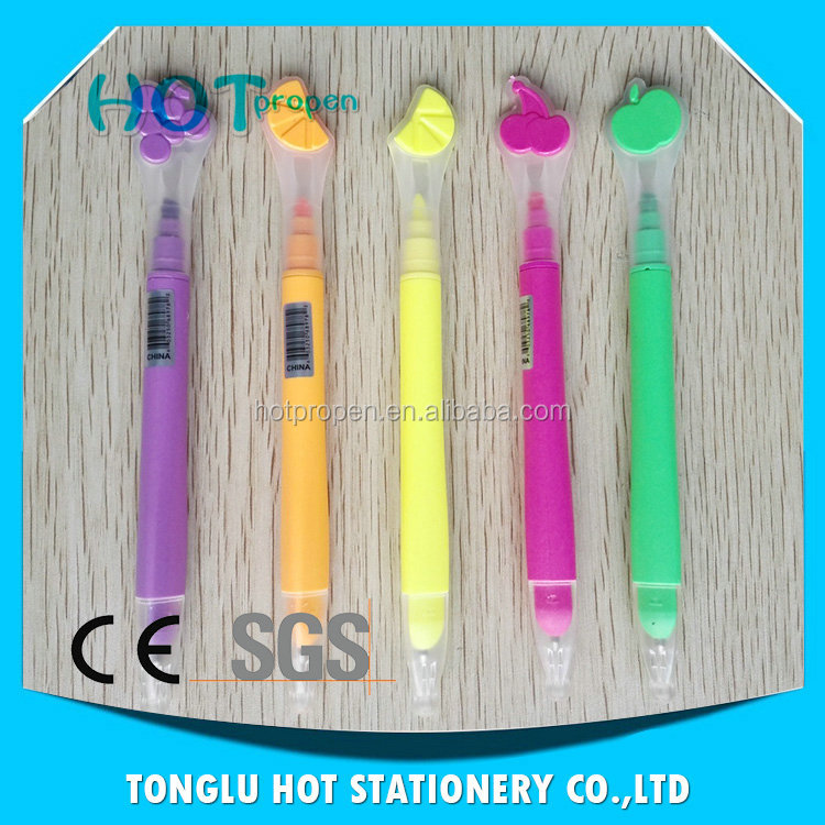 Promotional Multi-functional Two Way 5 colored highlighter pen