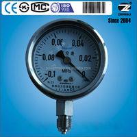 60mmm vacuum pump pressure gauges for furnace bottom stainless steel