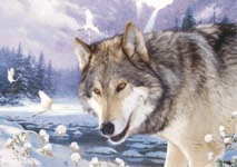 Wolf Wall 3D Poster For Home Decoration