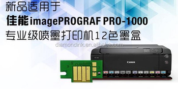 Replace PFI-1000 PBK MBK,C,M,Y,PC,PM,GY,PGY,CO,BL ink tank chip for Canon PRO 1000 Printer ink cartridge