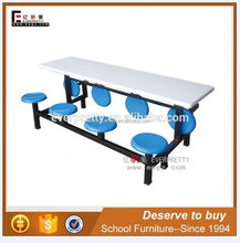 School canteen folding malaysia fiber glass dining table 6 chairs set