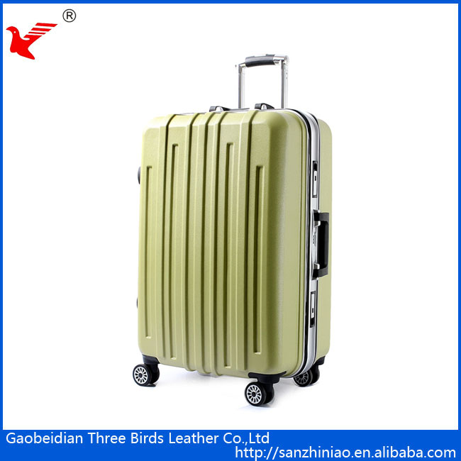 Alibaba factory 4 wheels hard shell ABS luggage cabin suitcase trolley PC luggage China