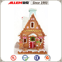 "8.7"" Christmas decoration polyresin gingerbread house"
