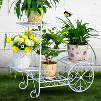 Metal Flower Stand Holder Garden Decor