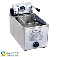 Counter top automatic fryer machines with Single Basket and 8 Liters (SY-TF8S SUNRRY)