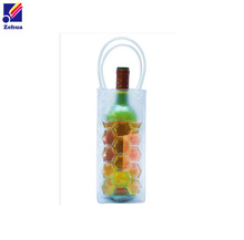 Wholesale pvc ice wine bag,plastic bottle wine cooler bag new 2017