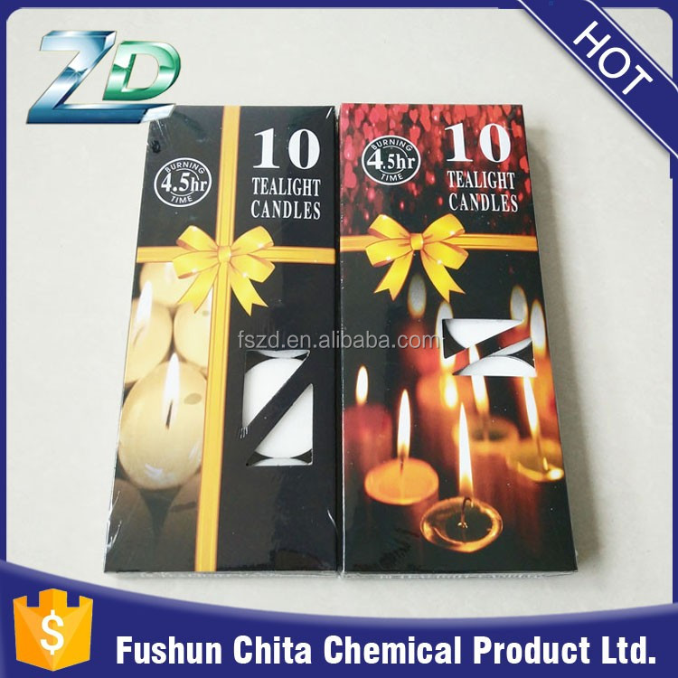 10g Box packing Theelichten with 3.5hours burning time/ White Tea Light Candle/ Candele/ Bougies/ Velas