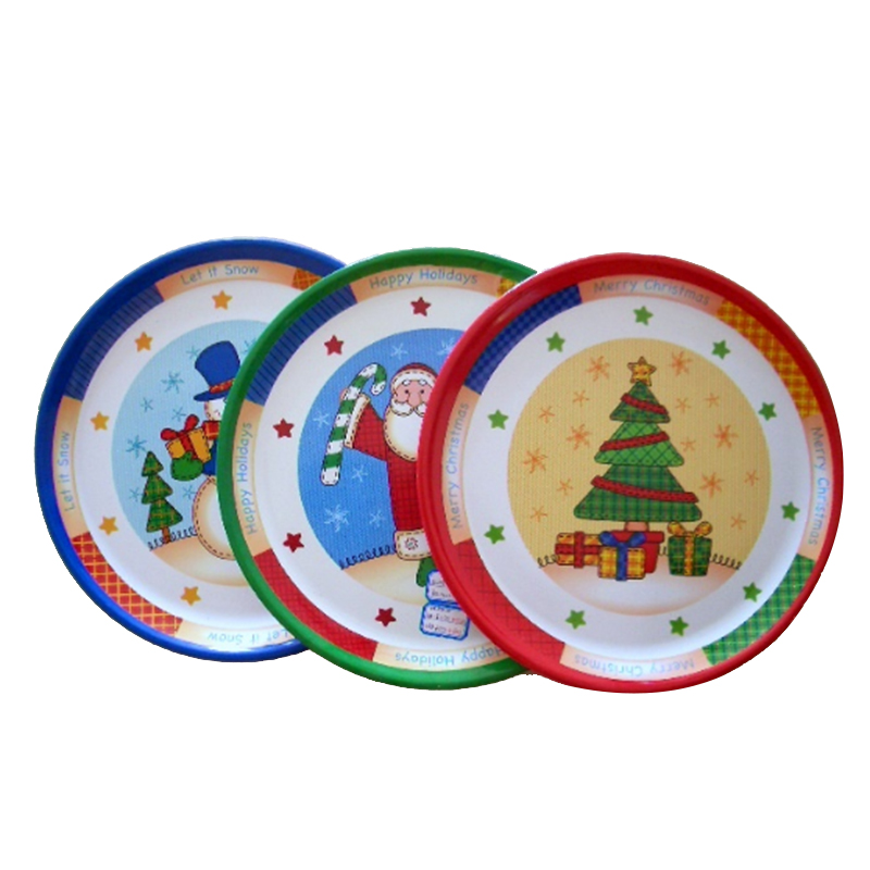 New design large round plastic big plate,antique charger plates