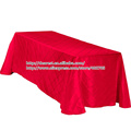 red pintuck table cloth for hotel polyester taffeta table cloth