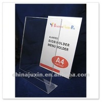 Slanted Acrylic Photo Picture Display Frame