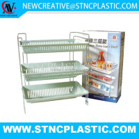 unique 3 tier plastic kitchen spice rack decorative shelves