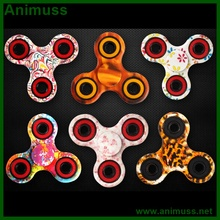 OEM Metal tri fidget spinner toy ceramic bearing 608 EDC hand finger table spinner
