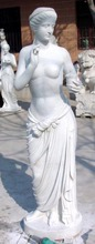 2016 PFM white snow nude female garden statues wholesale