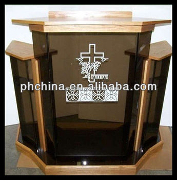 Rd 515 Hot Sell Wood Pulpit Wood Church Pulpit Glass