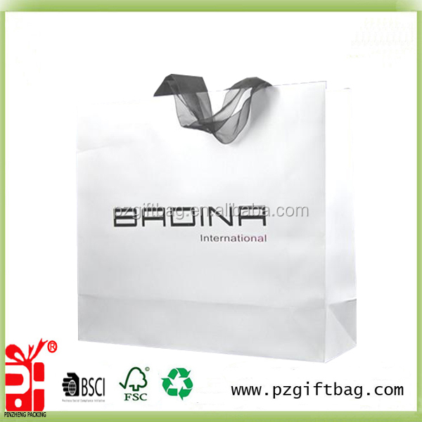 printing logo shopping paper bag supplier