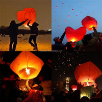 Sky lamp flying paper wish lantern, biodegradable chinese mixture shape Flying Luminary sky lantern