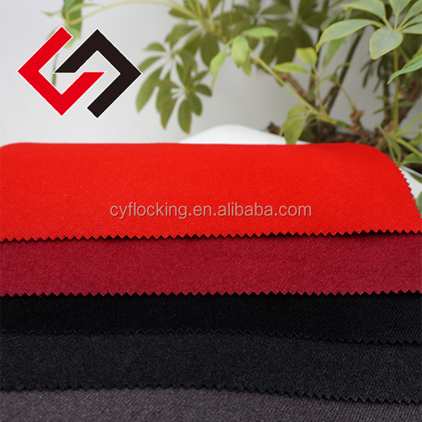 textile fabric stocklot cashmere flocking with strip pattern for garment